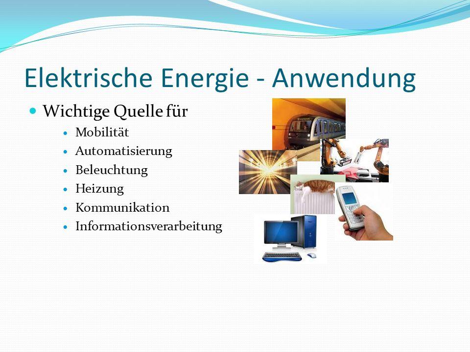 Elektrische Energie - Anwendung