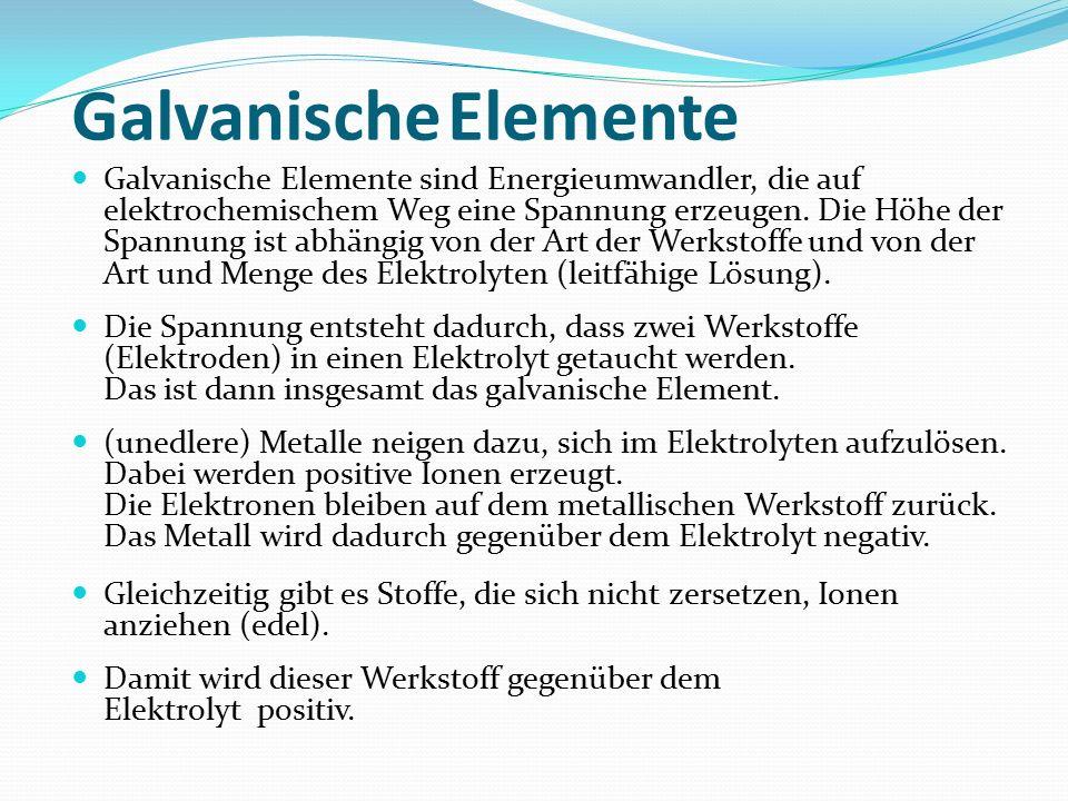 Galvanische Elemente