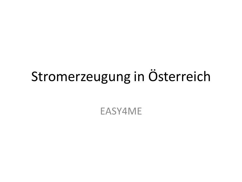 Stromerzeugung in Österreich