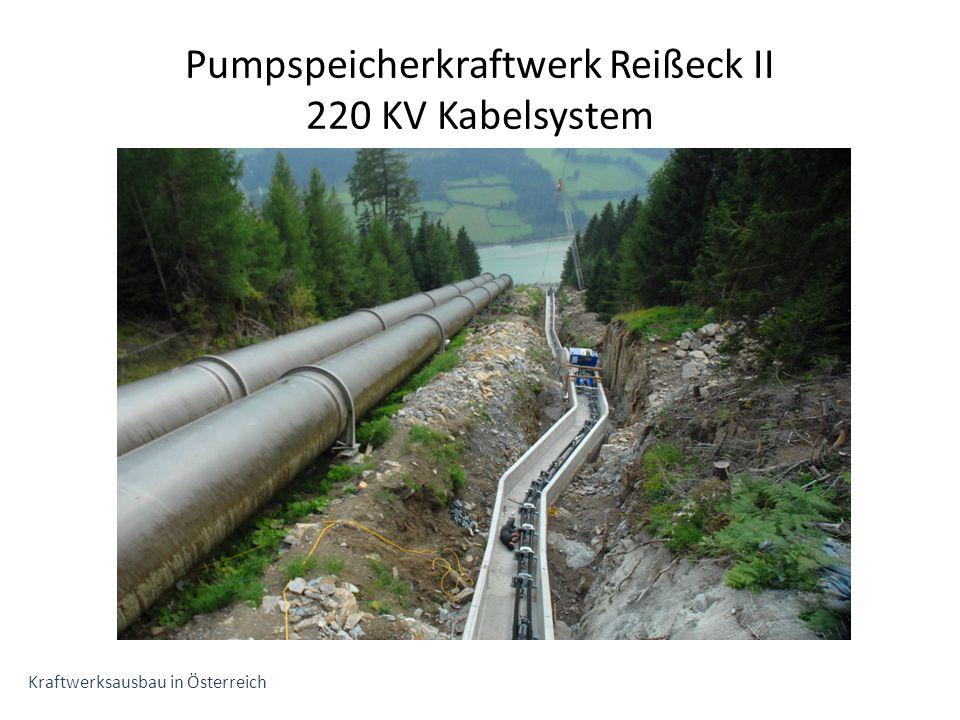 Pumpspeicherkraftwerk Reißeck II 220 KV Kabelsystem