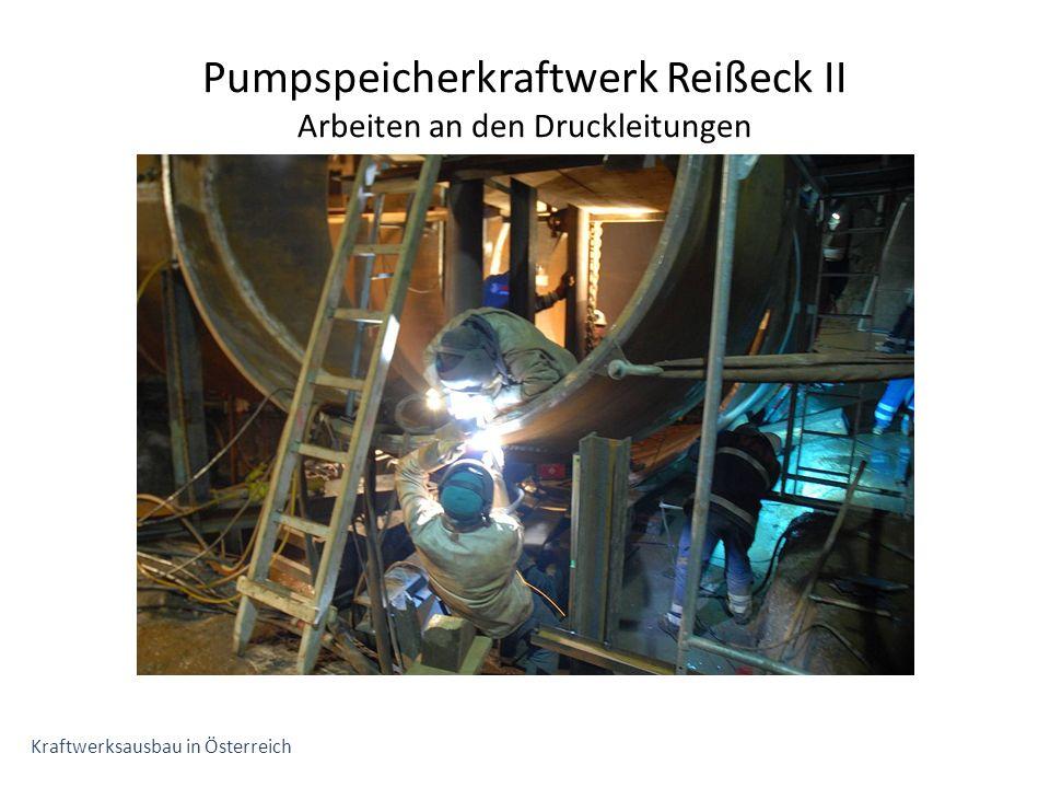 Pumpspeicherkraftwerk Reißeck II Arbeiten an den Druckleitungen