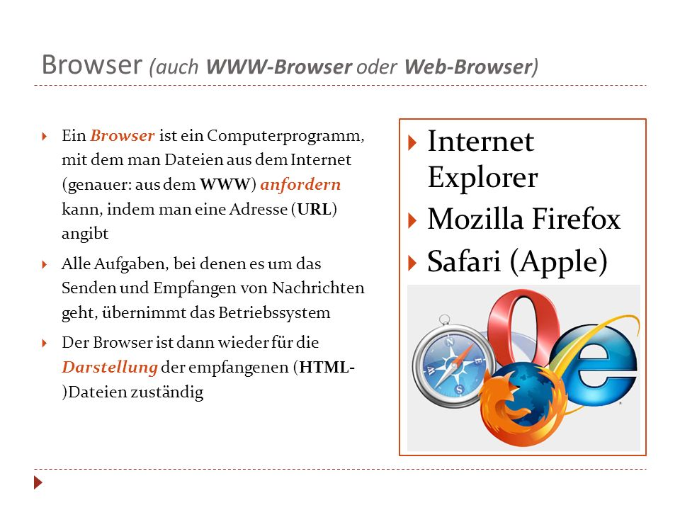 Browser (auch WWW-Browser oder Web-Browser)