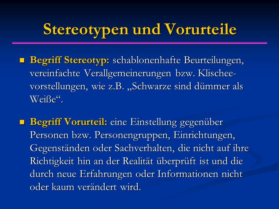 Stereotypen und Vorurteile