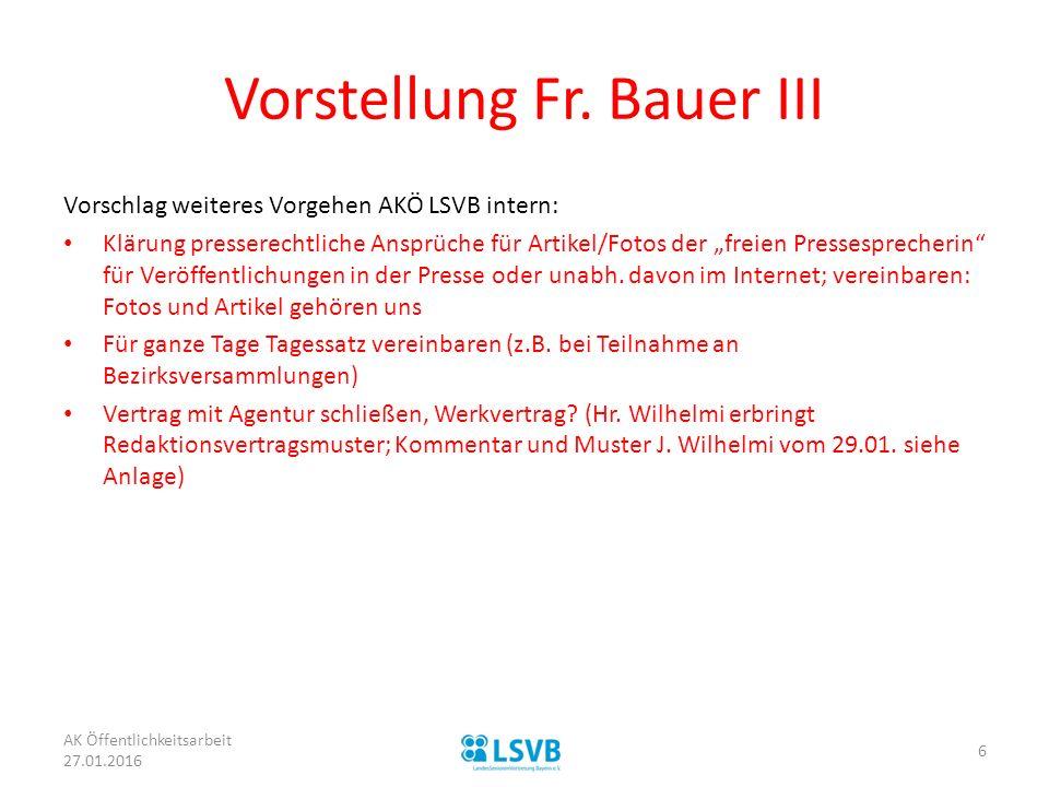 Vorstellung Fr. Bauer III