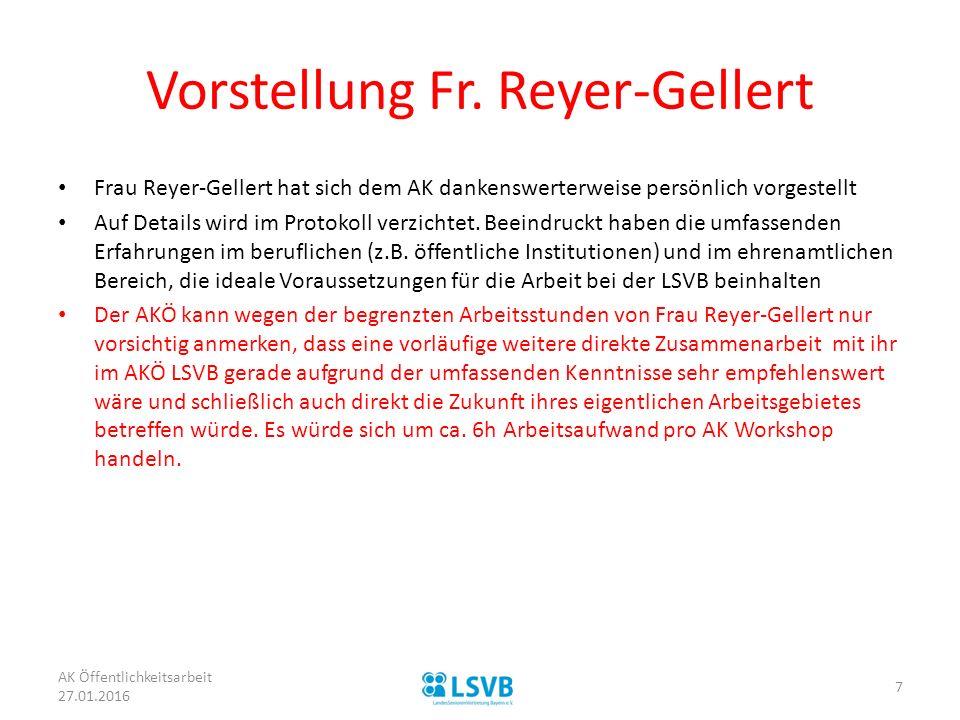 Vorstellung Fr. Reyer-Gellert