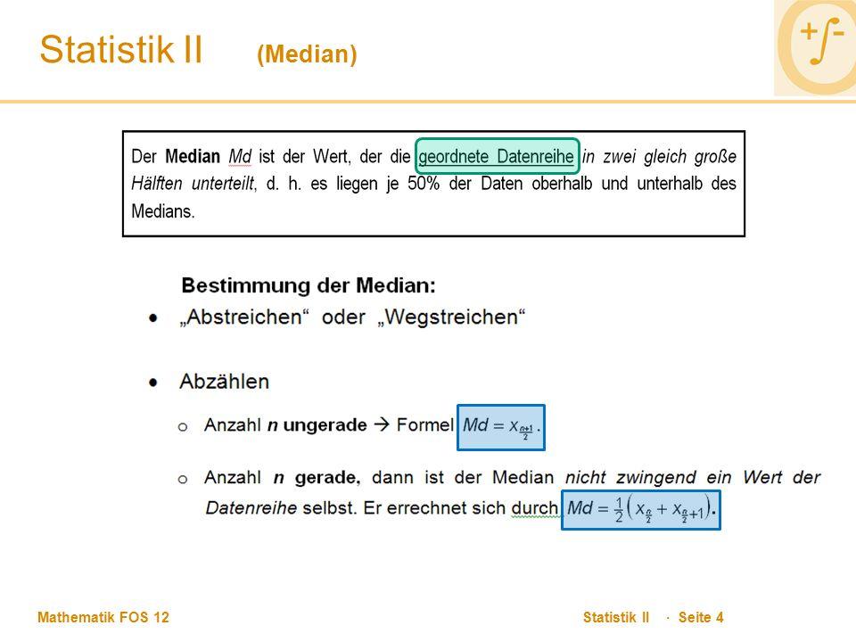 Statistik II (Median)