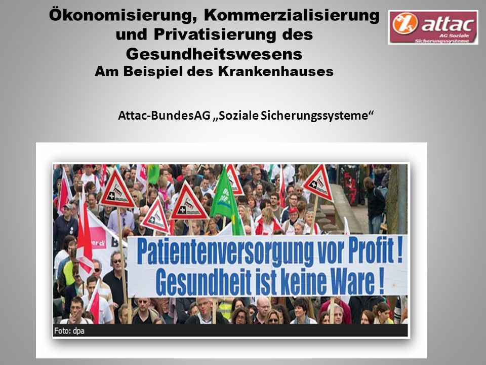 """Attac-BundesAG """"Soziale Sicherungssysteme"""