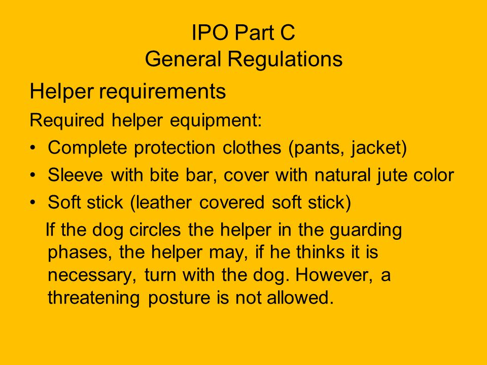 IPO Part C General Regulations
