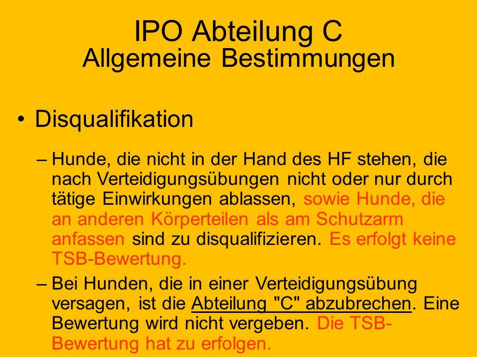 IPO Abteilung C Allgemeine Bestimmungen