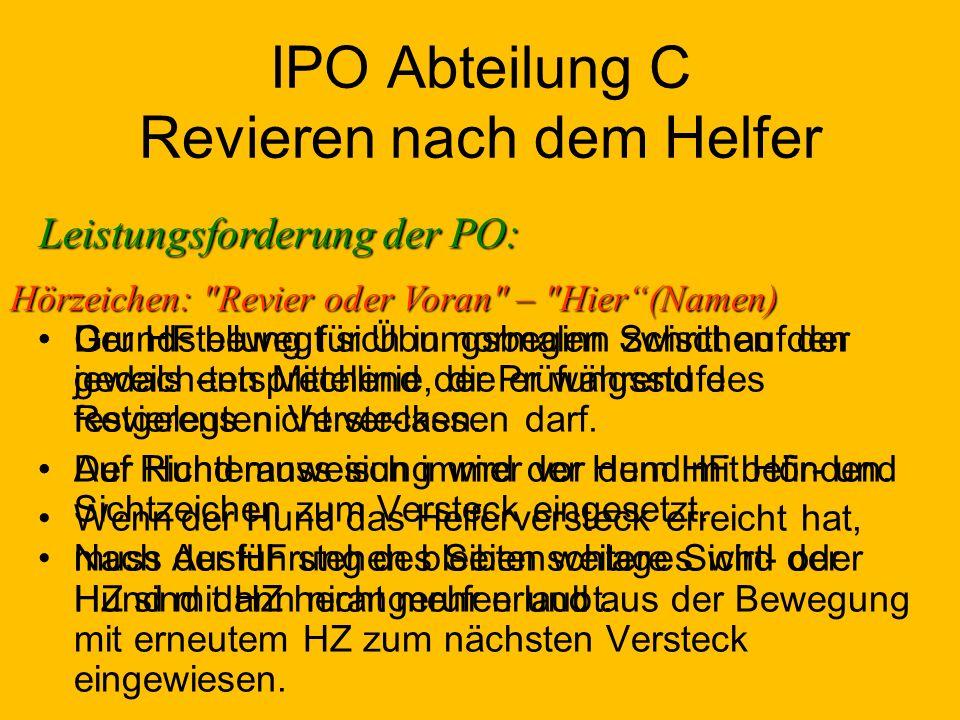 IPO Abteilung C Revieren nach dem Helfer