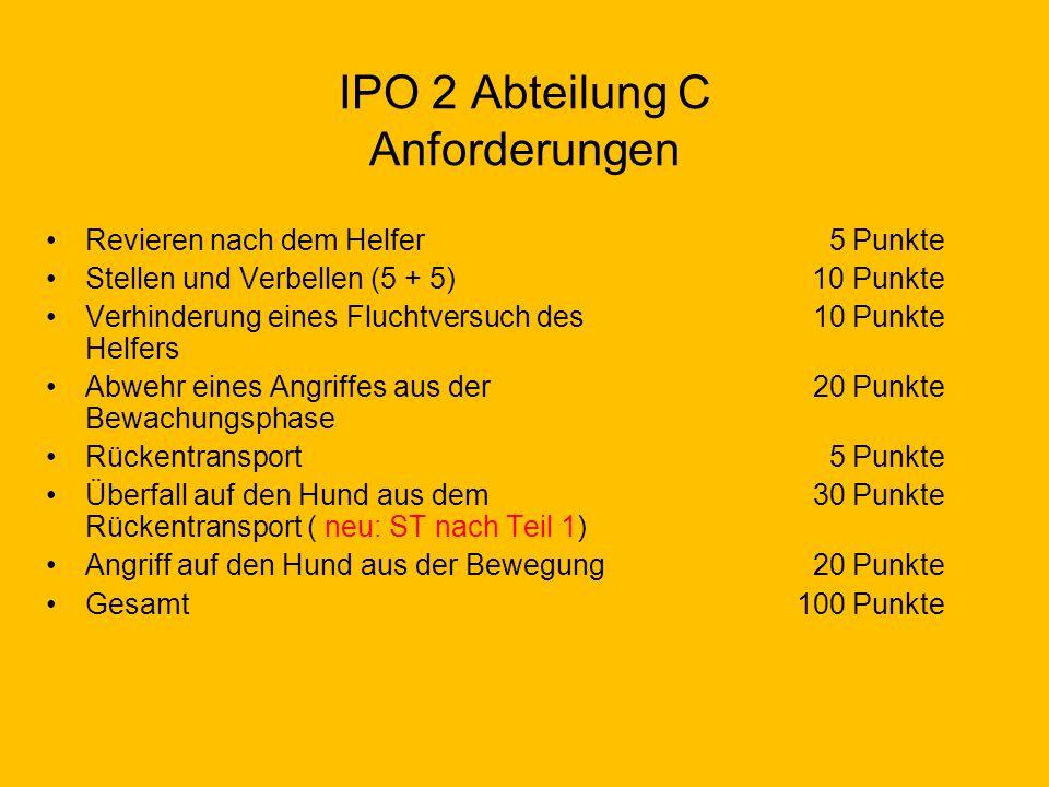 IPO 2 Abteilung C Anforderungen