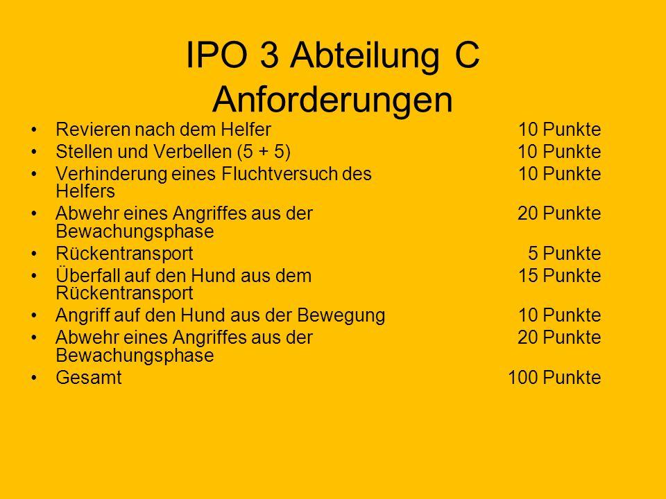 IPO 3 Abteilung C Anforderungen