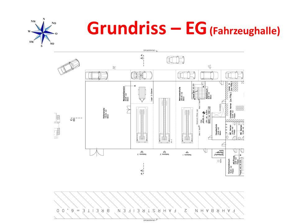 Grundriss – EG (Fahrzeughalle)