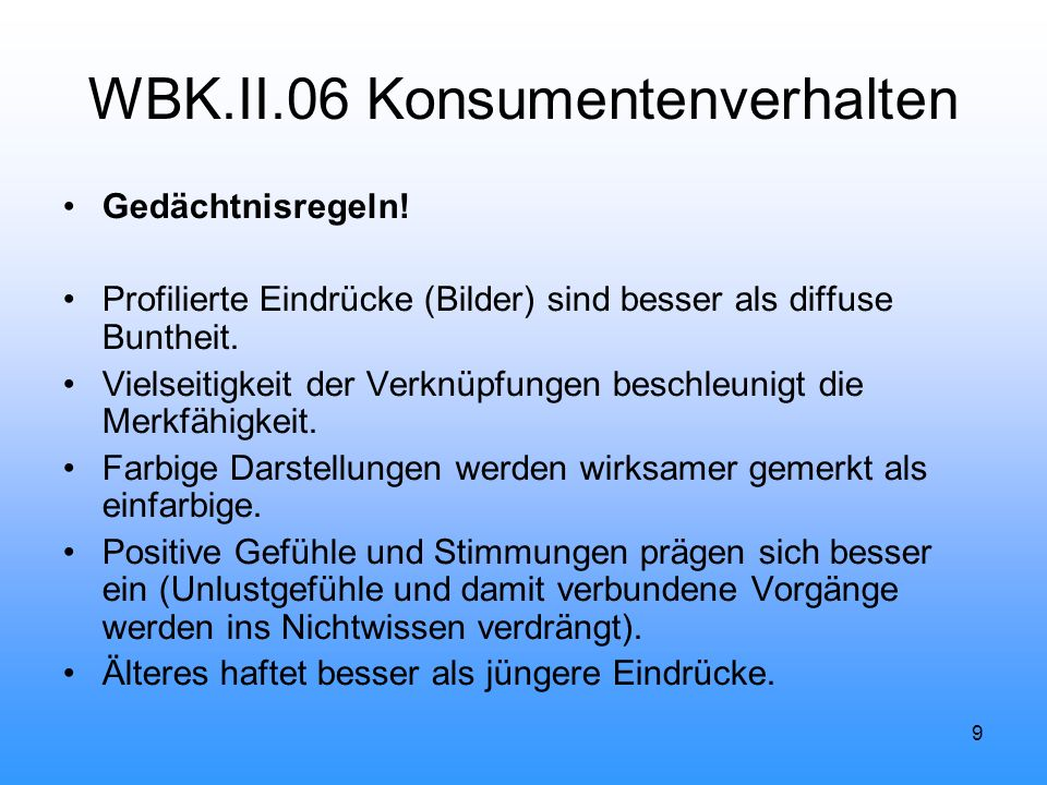 WBK.II.06 Konsumentenverhalten