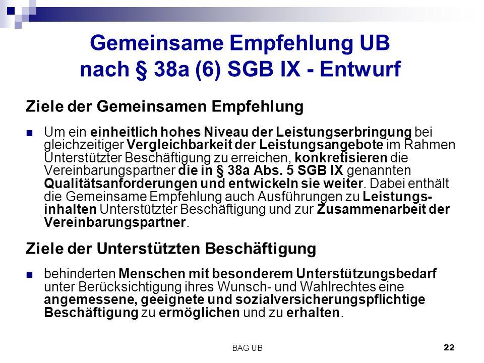 Gemeinsame Empfehlung UB nach § 38a (6) SGB IX - Entwurf