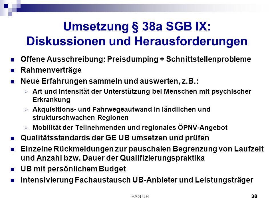 Umsetzung § 38a SGB IX: Diskussionen und Herausforderungen