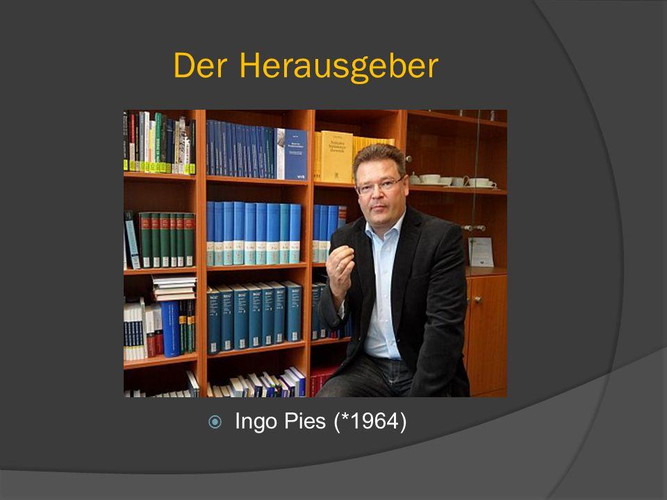 Der Herausgeber Ingo Pies (*1964)