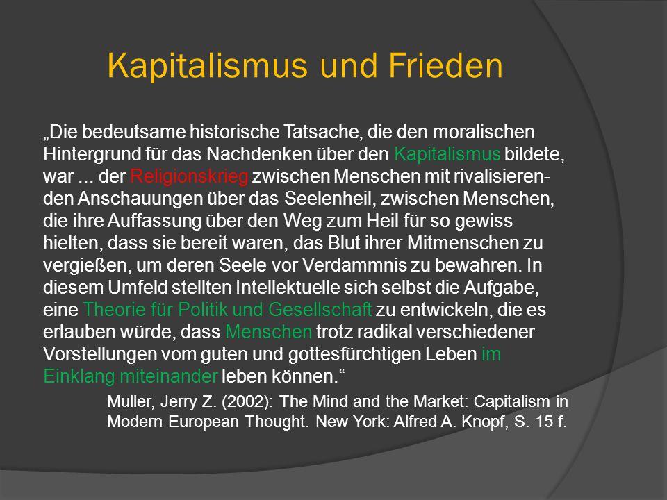 Kapitalismus und Frieden