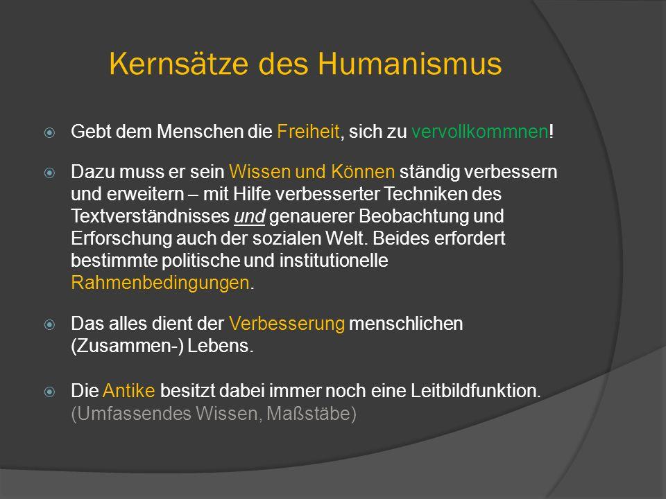 Kernsätze des Humanismus