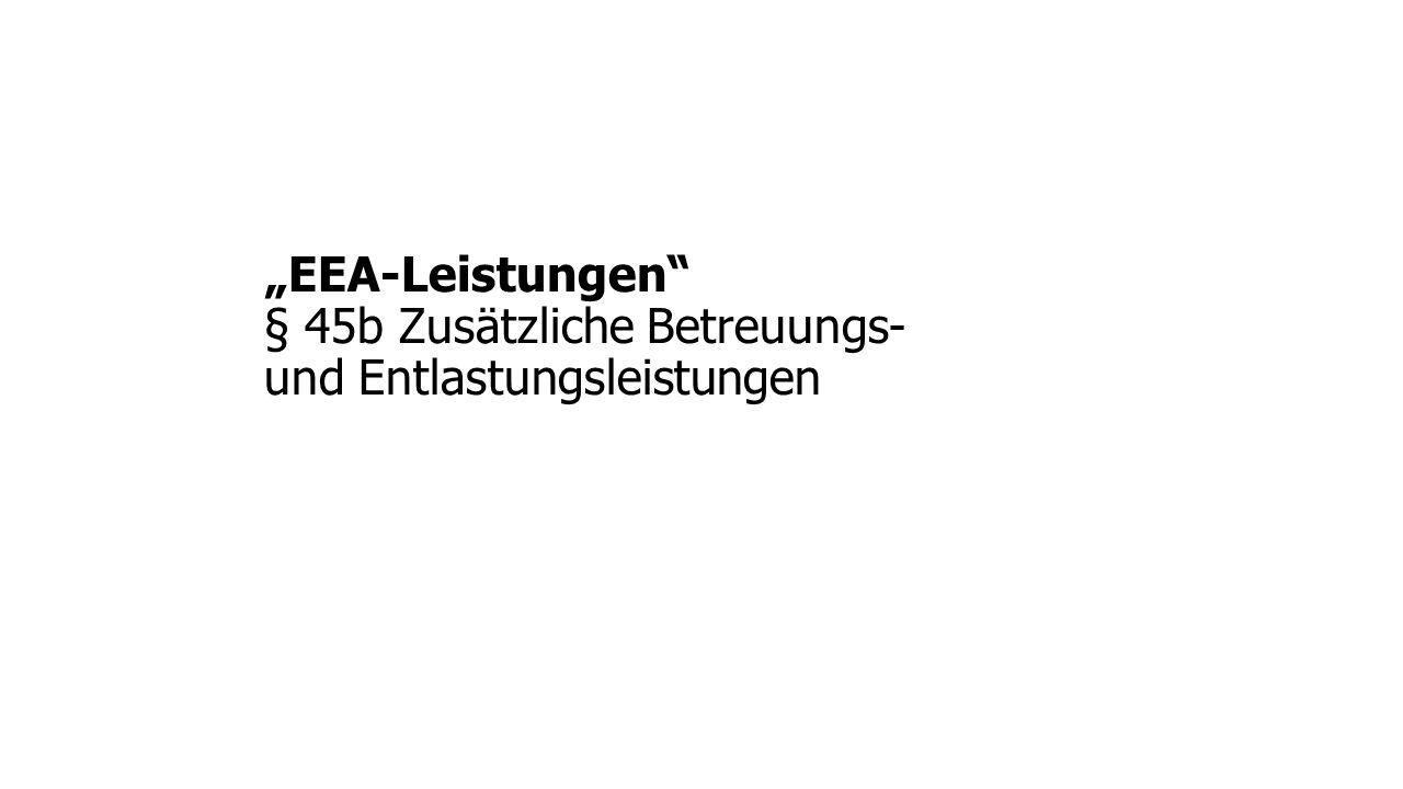 """""""EEA-Leistungen § 45b Zusätzliche Betreuungs- und Entlastungsleistungen"""