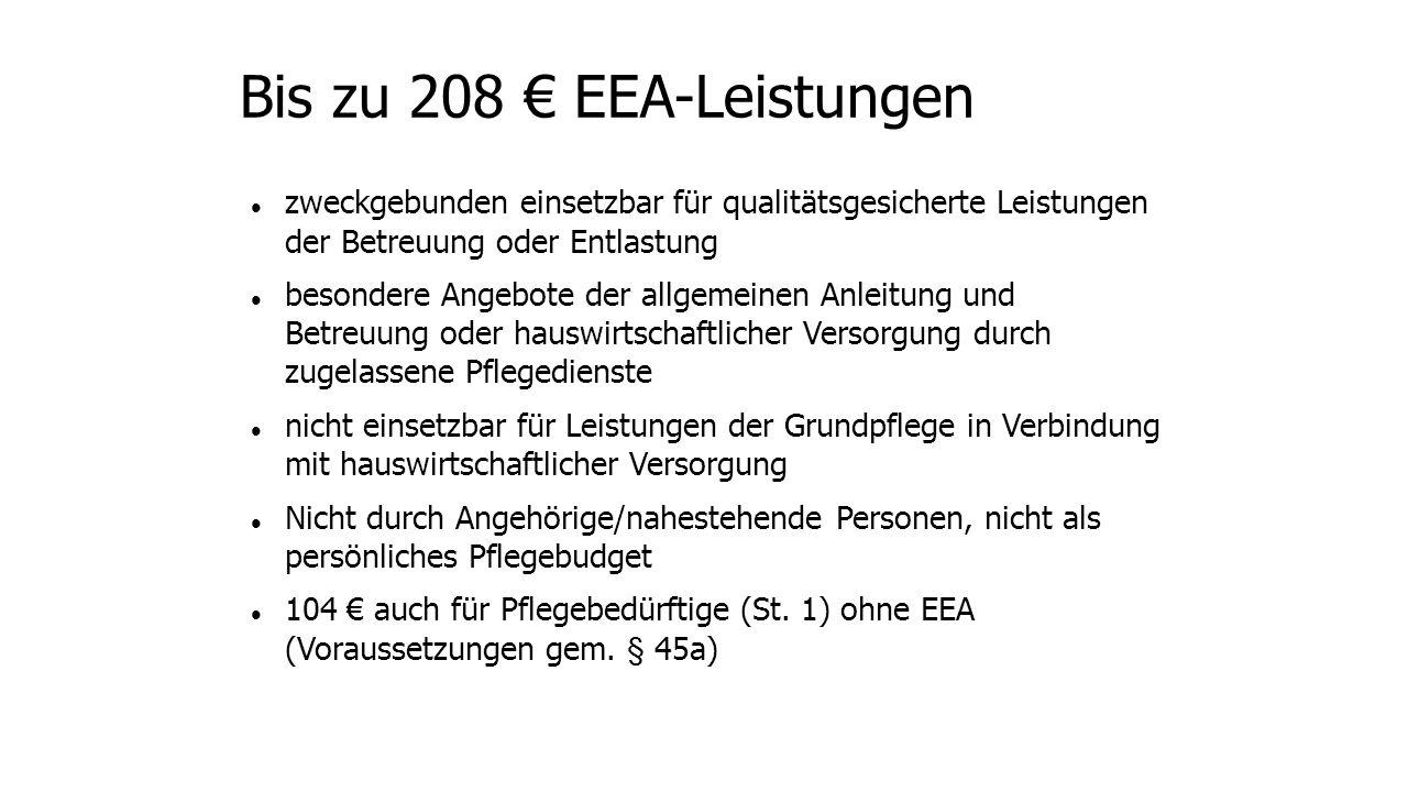 Bis zu 208 € EEA-Leistungen