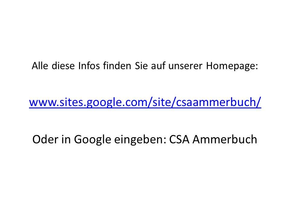 Oder in Google eingeben: CSA Ammerbuch