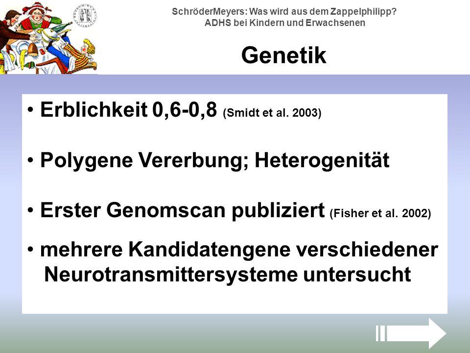 Genetik Erblichkeit 0,6-0,8 (Smidt et al. 2003)