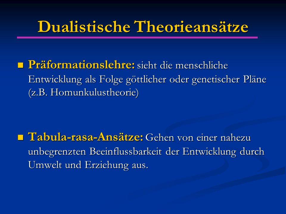 Dualistische Theorieansätze