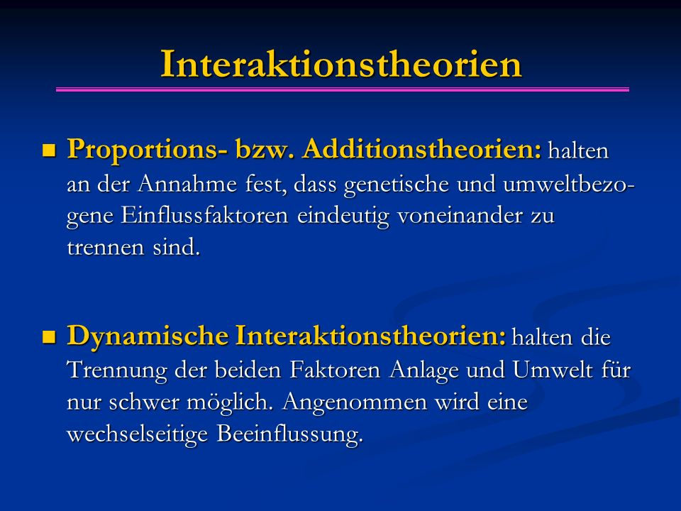 Interaktionstheorien
