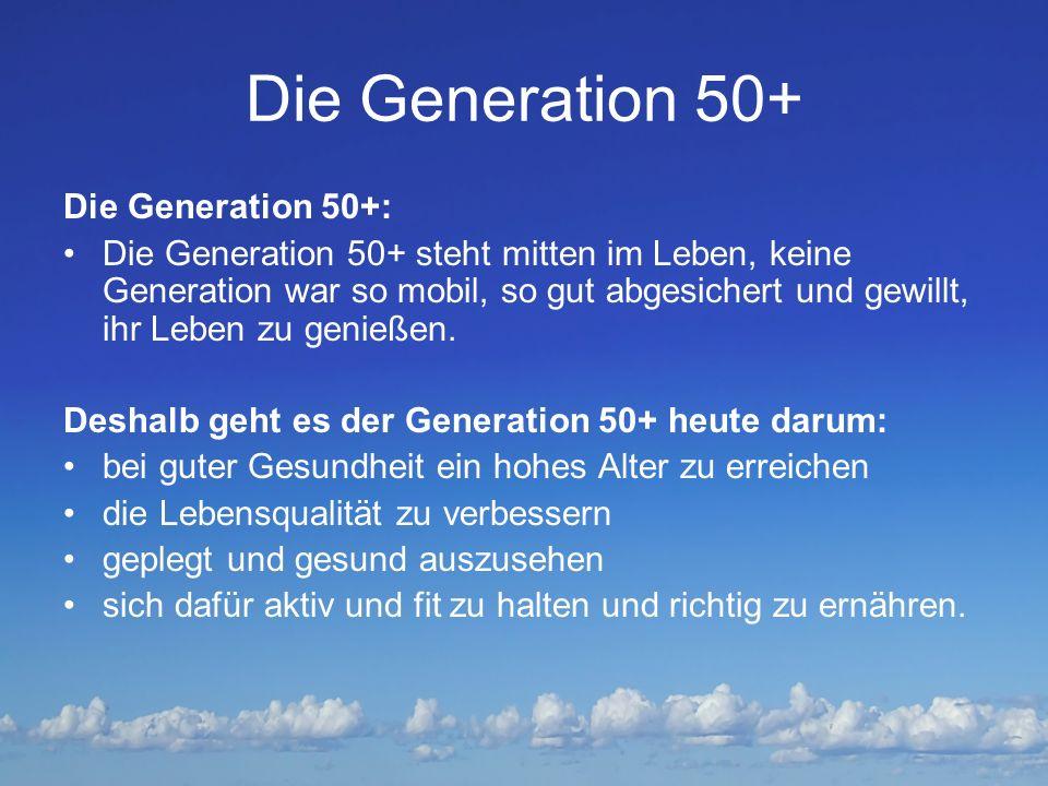 Die Generation 50+ Die Generation 50+:
