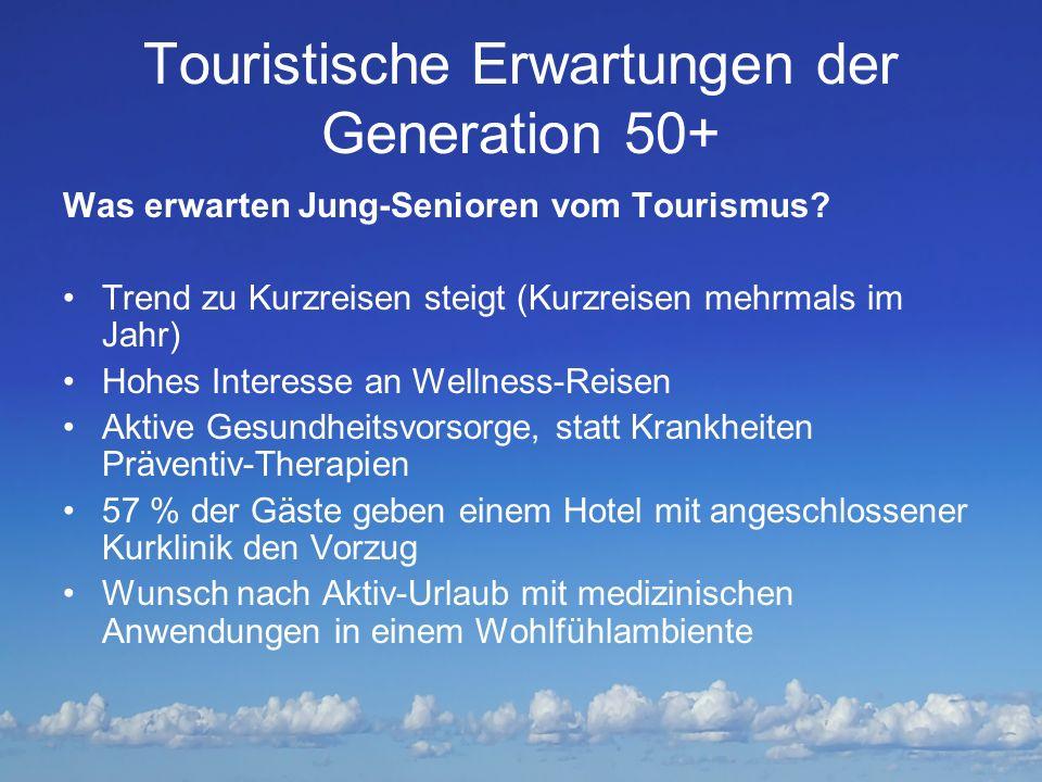 Touristische Erwartungen der Generation 50+
