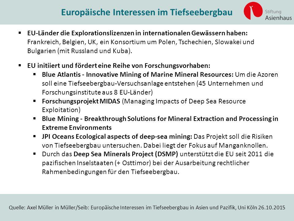Europäische Interessen im Tiefseebergbau