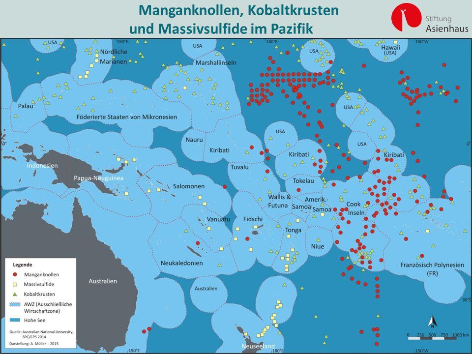 Manganknollen, Kobaltkrusten und Massivsulfide im Pazifik