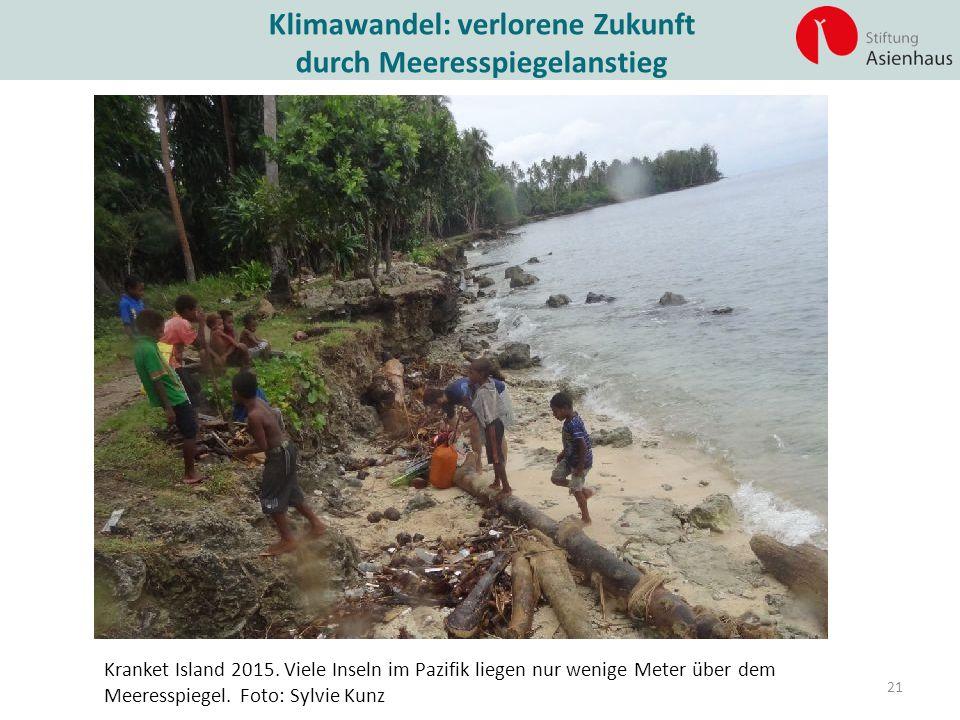 Klimawandel: verlorene Zukunft durch Meeresspiegelanstieg
