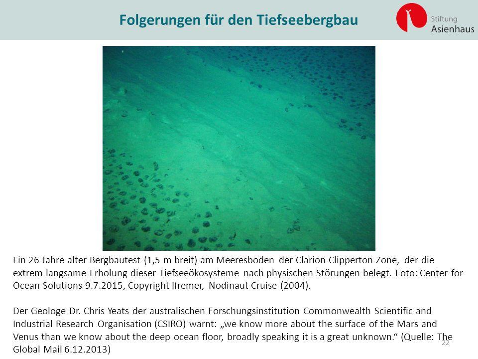 Folgerungen für den Tiefseebergbau