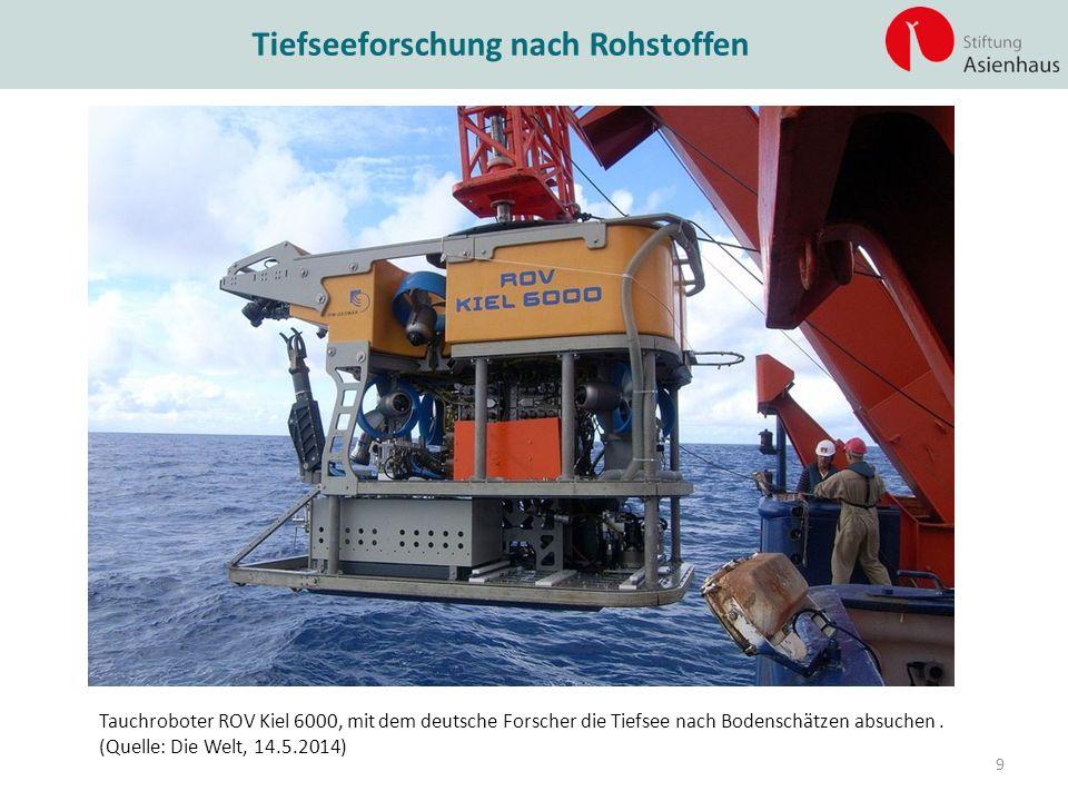 Tiefseeforschung nach Rohstoffen