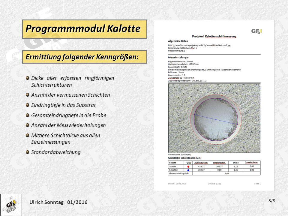 Programmmodul Kalotte