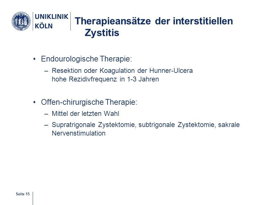 Therapieansätze der interstitiellen Zystitis