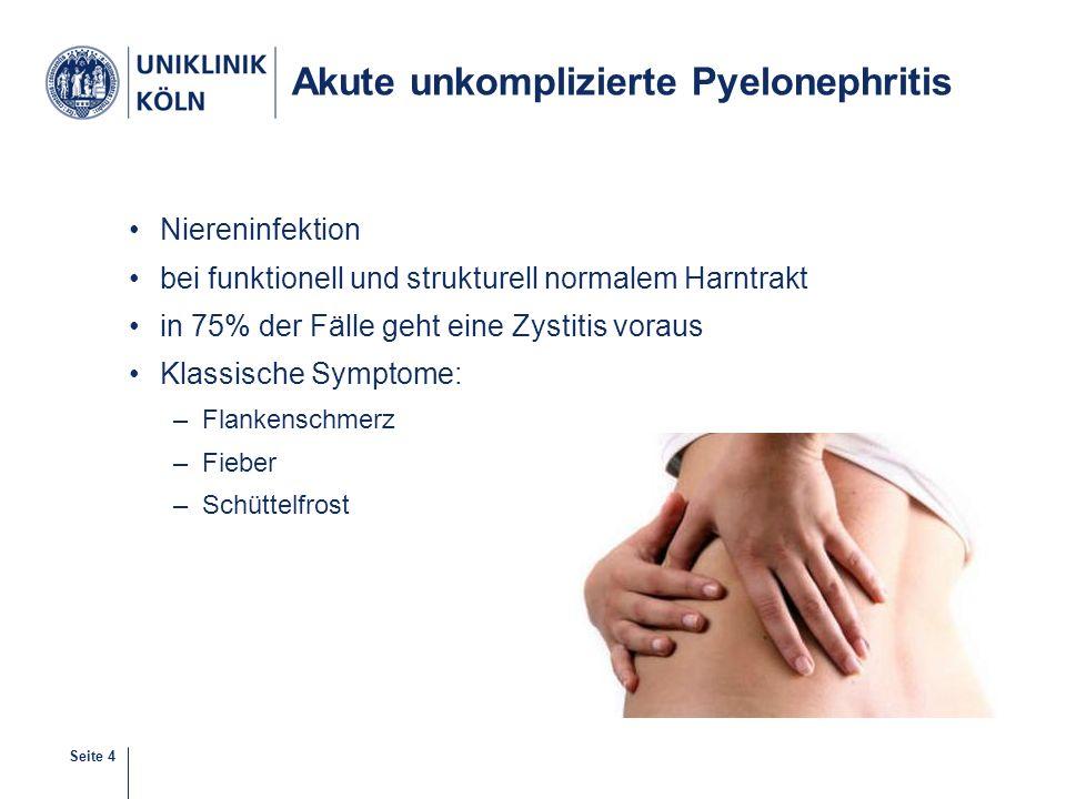 Akute unkomplizierte Pyelonephritis