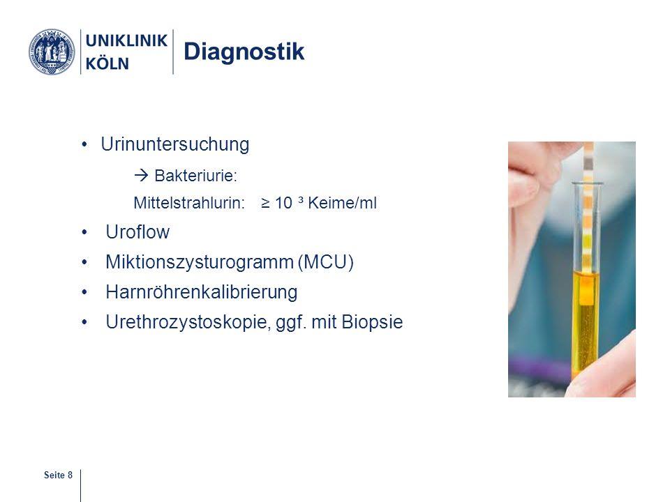 Diagnostik Urinuntersuchung  Bakteriurie: Uroflow