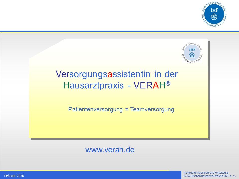 Ziele des VERAH® Konzeptes
