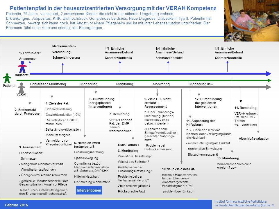 VERAH® Tätigkeitsfeld 3 präventive und rehabilitative Maßnahmen