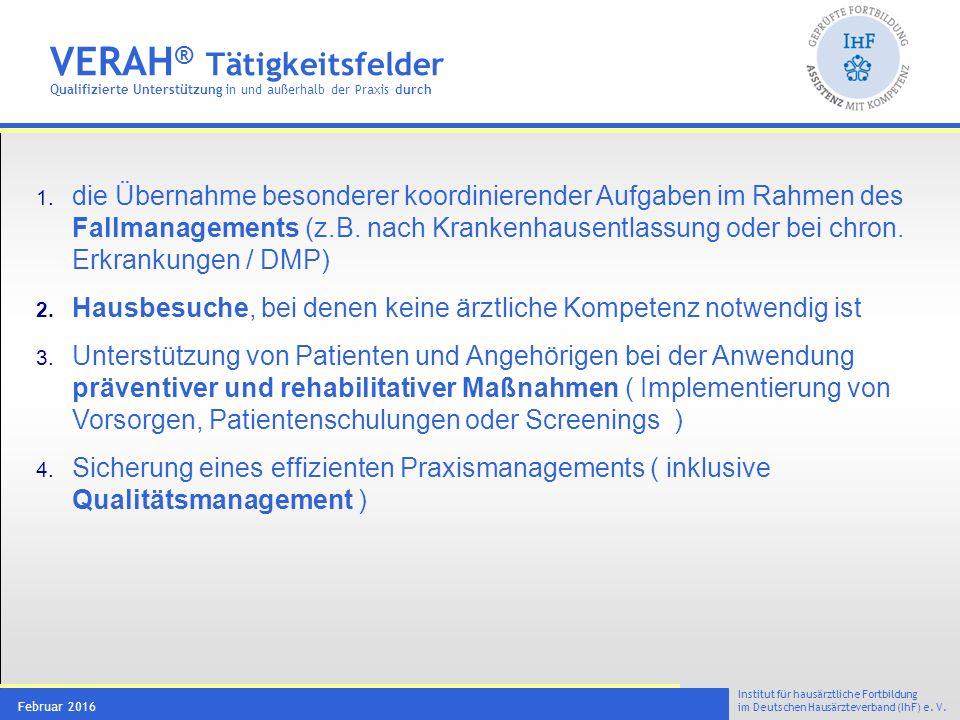 VERAH® Tätigkeitsfeld 1 Fallmanagement