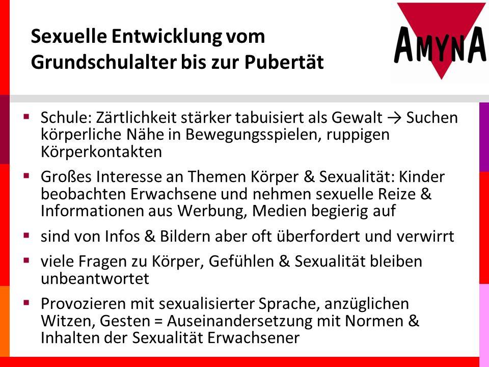Sexuelle Entwicklung vom Grundschulalter bis zur Pubertät