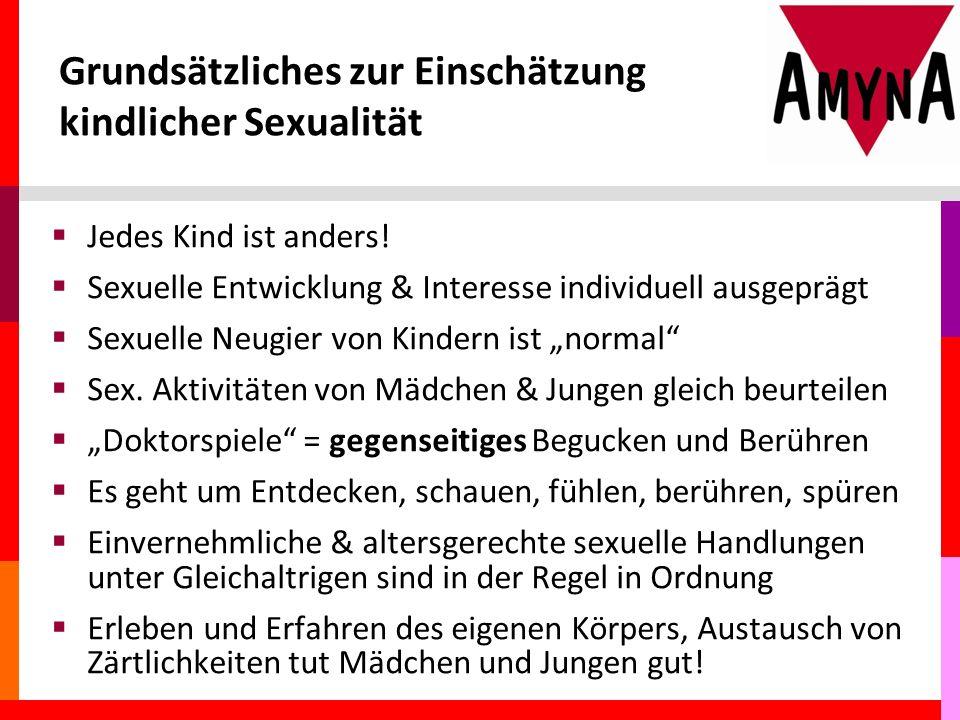 Grundsätzliches zur Einschätzung kindlicher Sexualität