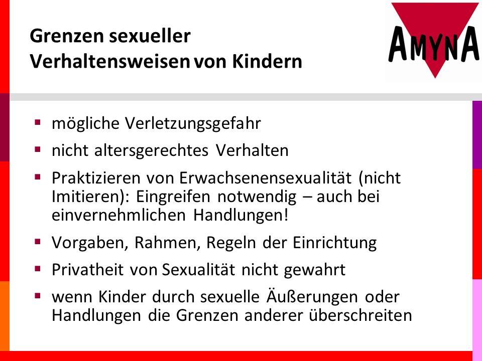 Grenzen sexueller Verhaltensweisen von Kindern