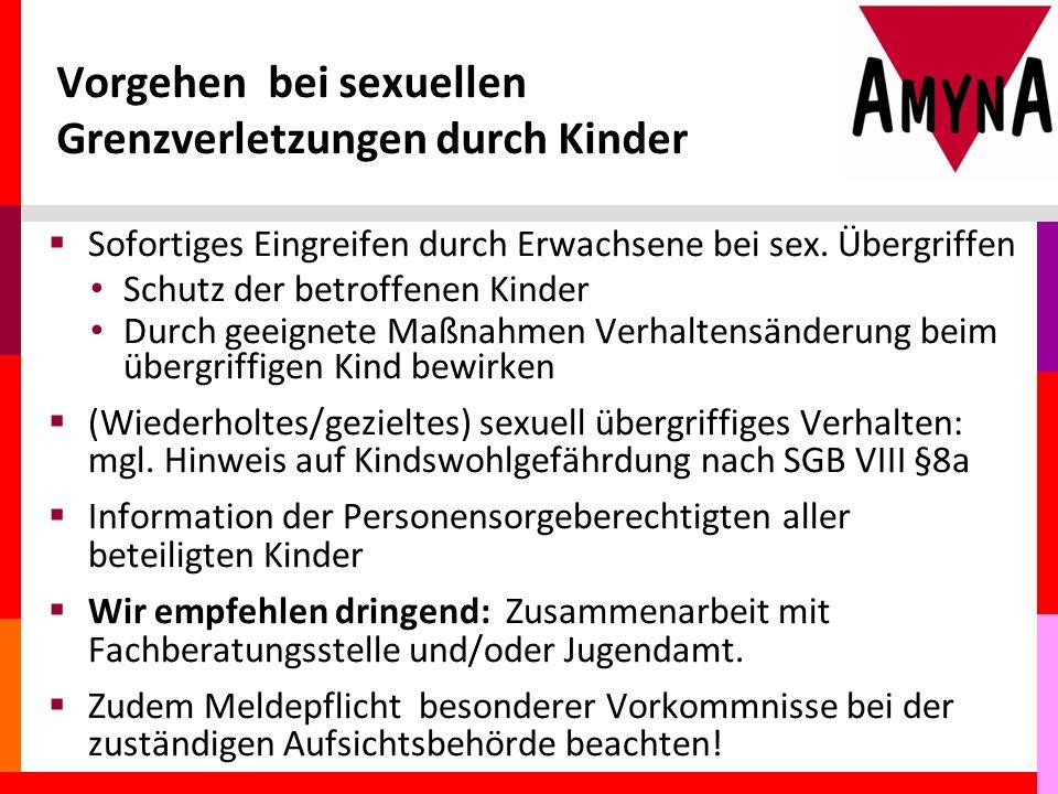 Vorgehen bei sexuellen Grenzverletzungen durch Kinder