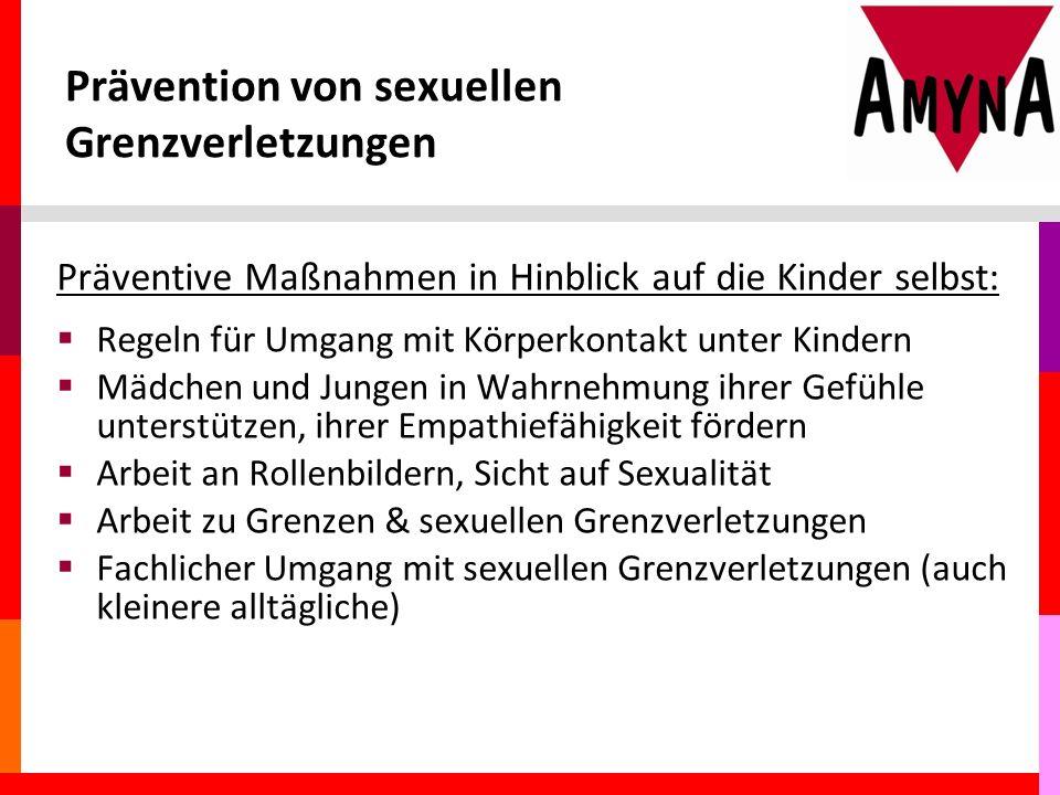 Prävention von sexuellen Grenzverletzungen
