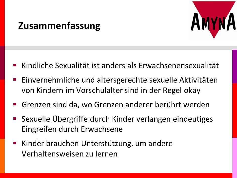 Zusammenfassung Kindliche Sexualität ist anders als Erwachsenensexualität.