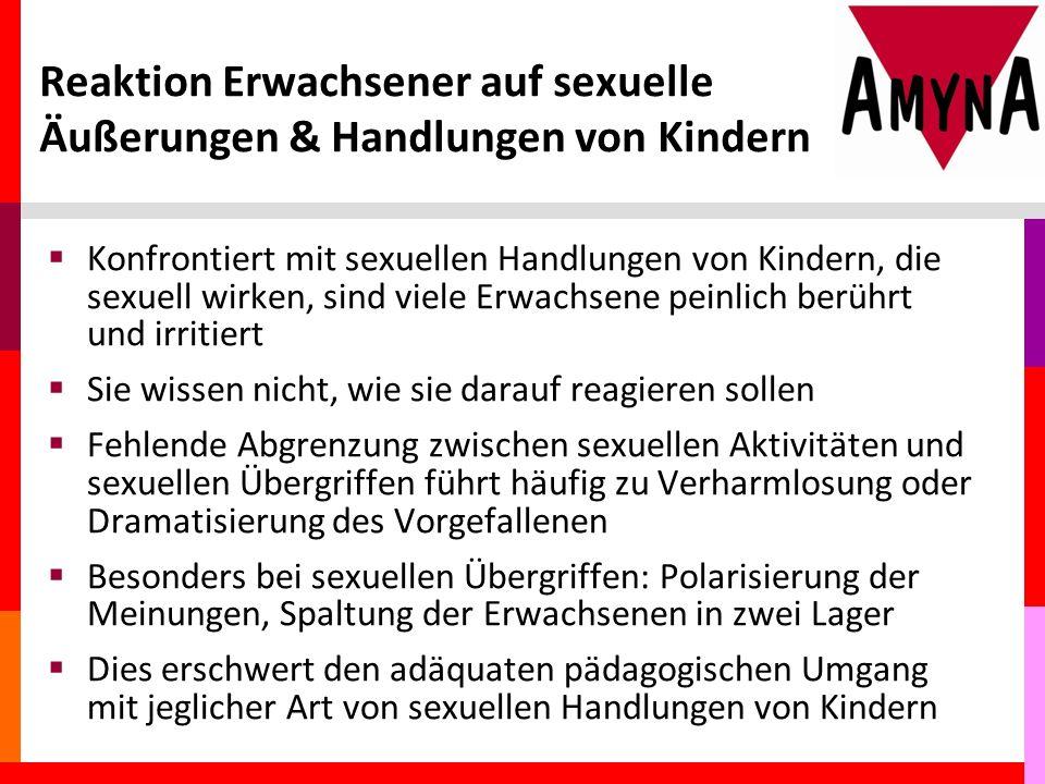 Reaktion Erwachsener auf sexuelle Äußerungen & Handlungen von Kindern
